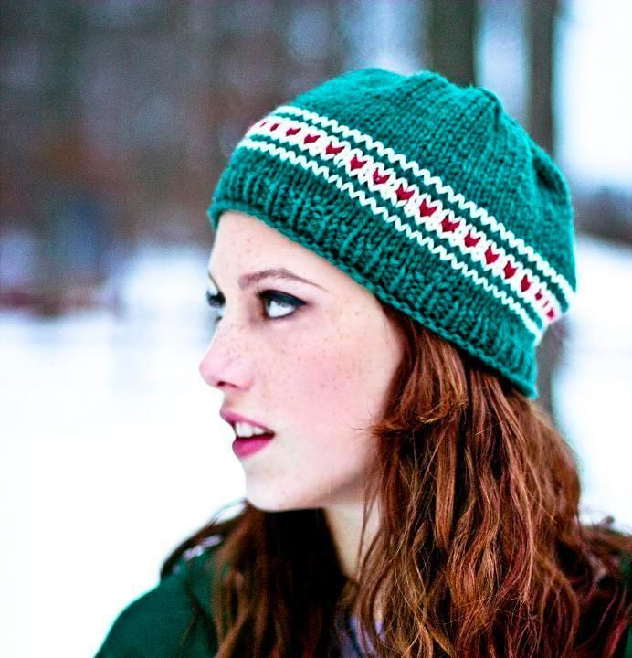 Free knitting pattern for Secret Crush hat and more beanie knitting patterns