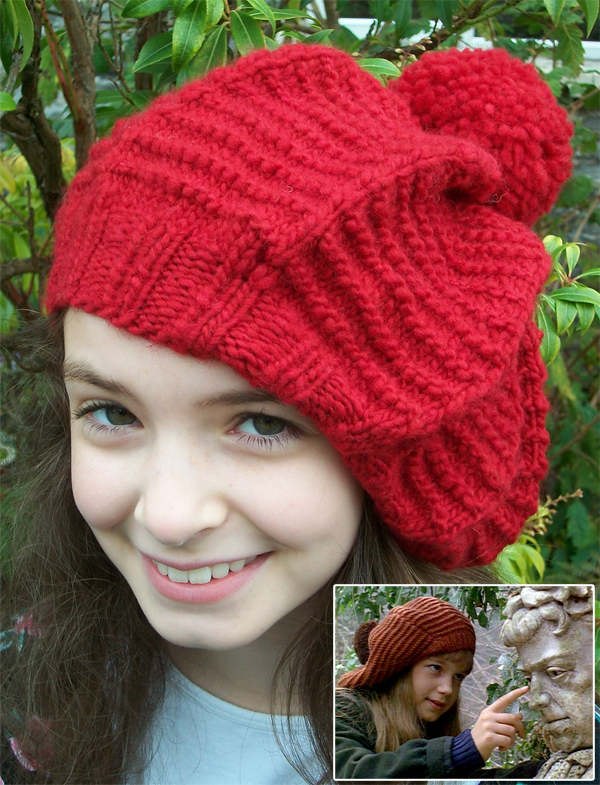 Free Knitting Pattern for Secret Garden Tam