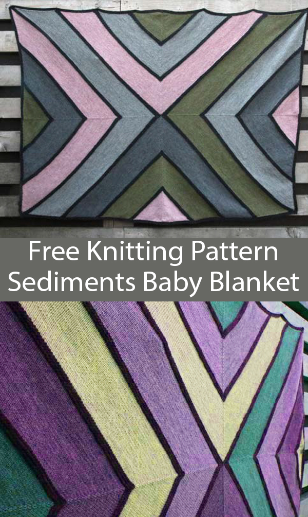 Free Knitting Pattern for Sediments Baby Blanket