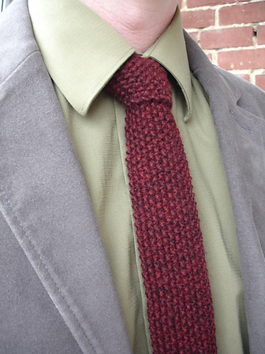 Free Knitting Pattern for Seed Stitch Tie