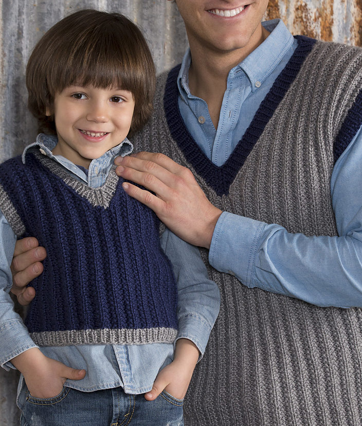 Free Knitting Pattern for 2 Row Repeat Seeded Rib Vest