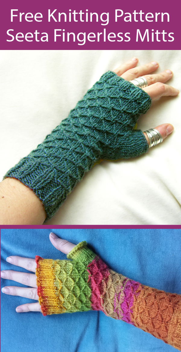 Free Knitting Pattern for Seeta Fingerless Gloves