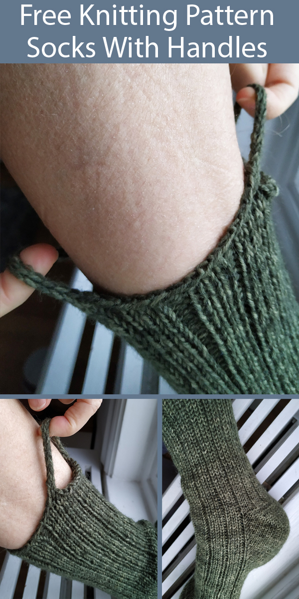 Free Knitting Pattern for Socks With Handles For Easy Pull Up