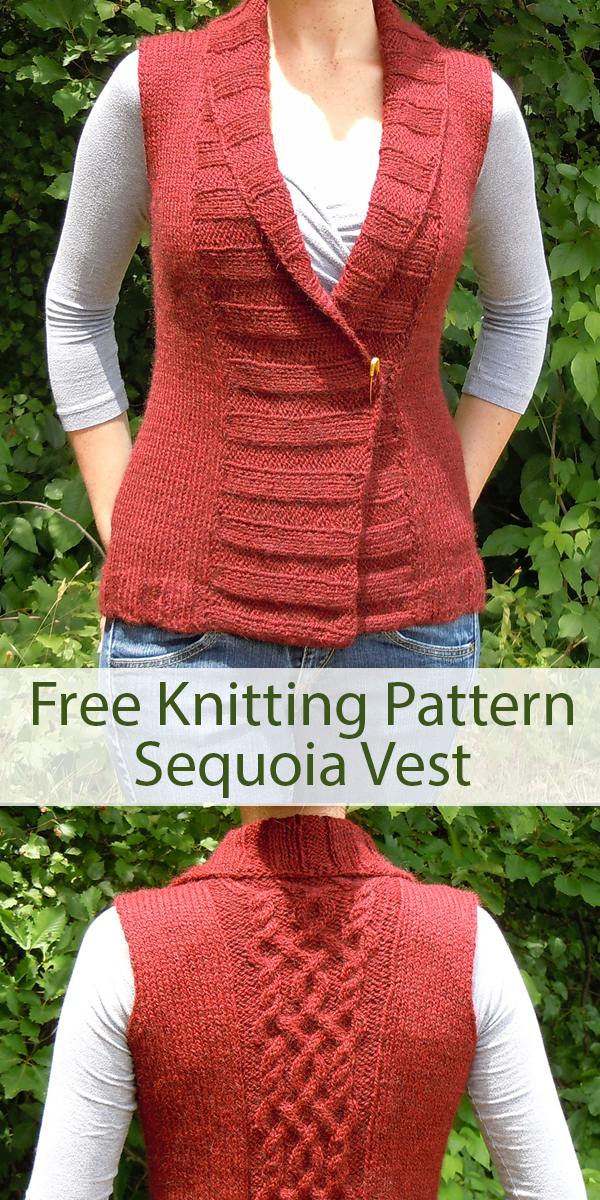 Free Knitting Pattern for Sequoia Vest