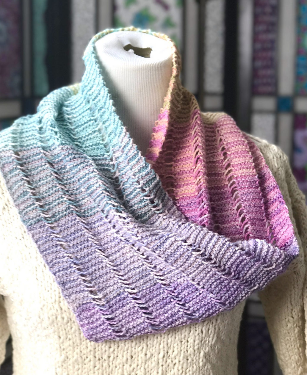 Free Knitting Pattern for Serene Sampler Cowl