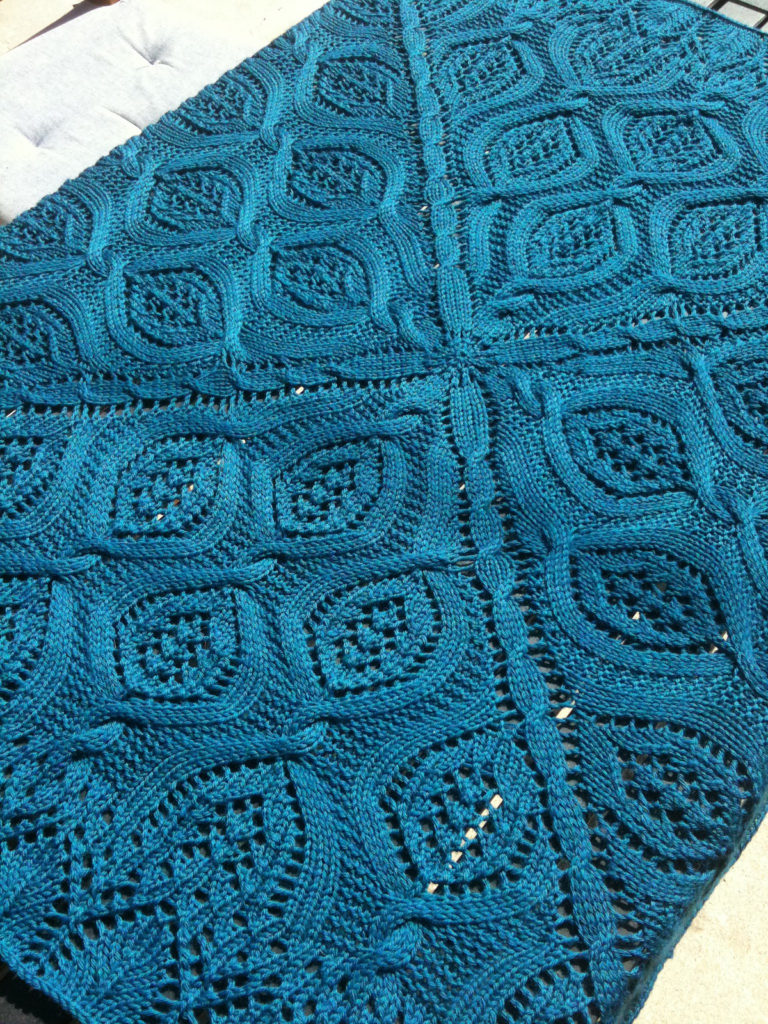 Free Knitting Pattern for Serenity Blanket