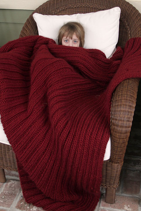 Free Knitting Pattern for Easy Blanket Blanket For Seriously Cold People