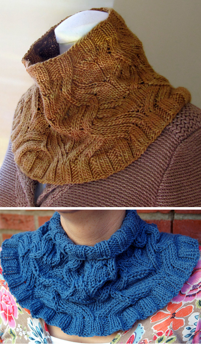 Free Knitting Pattern for Serpentine Cowl