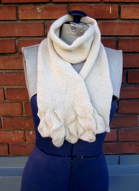 Free knitting pattern for Salt Flats Scarf and more scarf knitting patterns