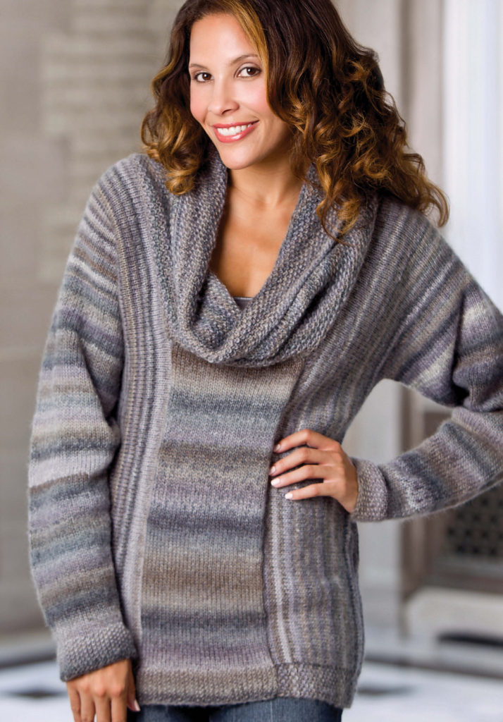 Knitting Pattern for Shades of Gray Sweater