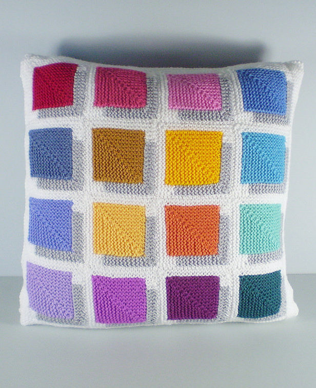Free Knitting Pattern for Shadow Magic Pillow