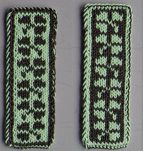 Free Knitting Pattern for Shamrock Bookmark