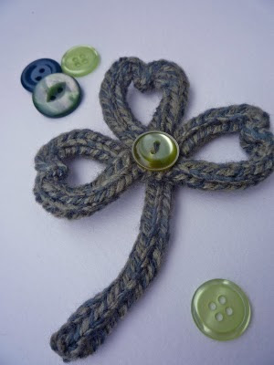 Shamrock Brooch Free Knitting Pattern | Free St. Patrick's Day Knitting Patterns