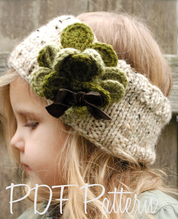 Knitting Pattern for Shamrock Earwarmer Headband or Cowl