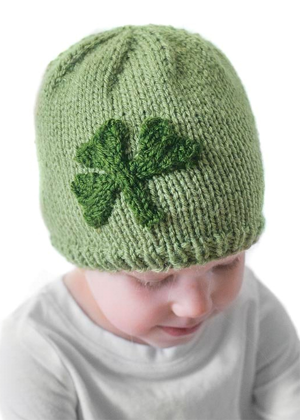 Free Knitting Pattern for Shamrock Hat
