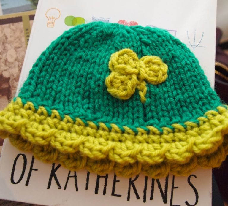 Free Knitting Pattern for Shamrock Shake Newborn Hat