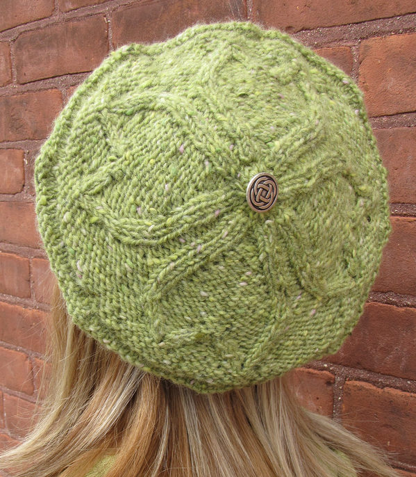 Free Knitting Pattern for Shamrock Tam