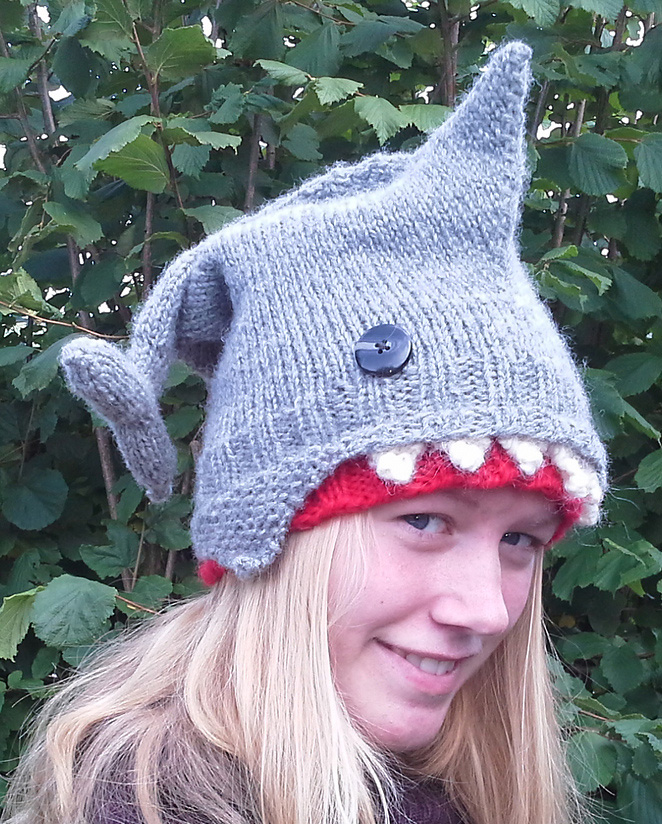 Free knitting pattern for Shark Hat