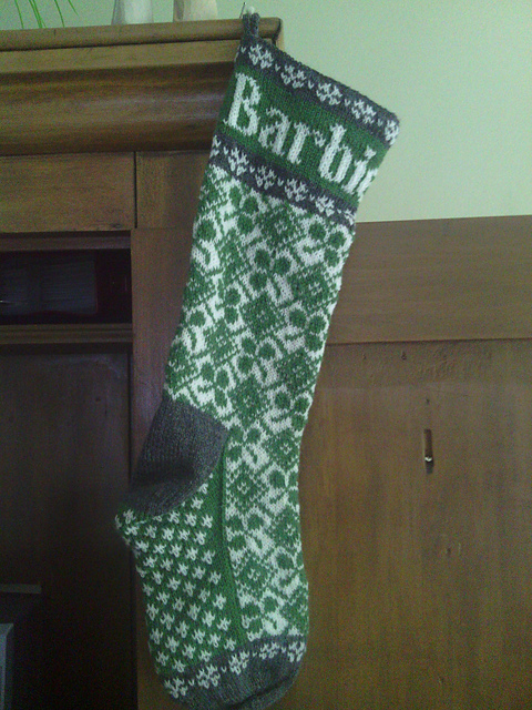 Shamrock Chart for Stocking Free Knitting Pattern | Free St. Patrick's Day Knitting Patterns