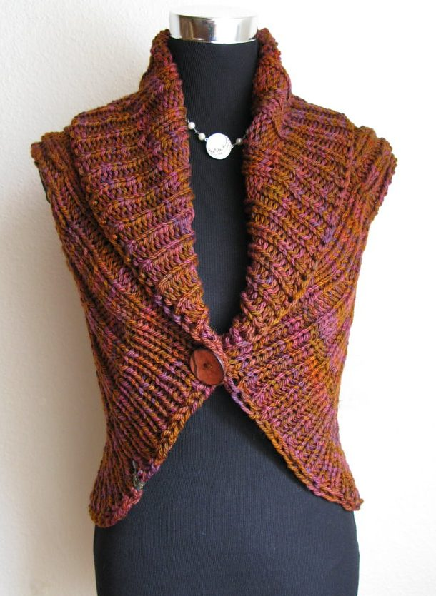 Easy Vest Knitting Patterns In The Loop Knitting