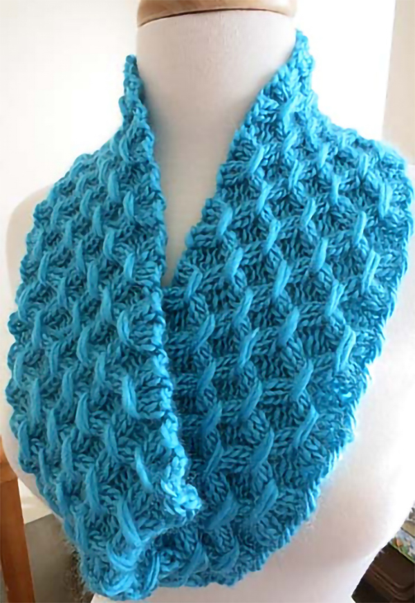 Free Knitting Pattern for Easy Sheaf Cowl