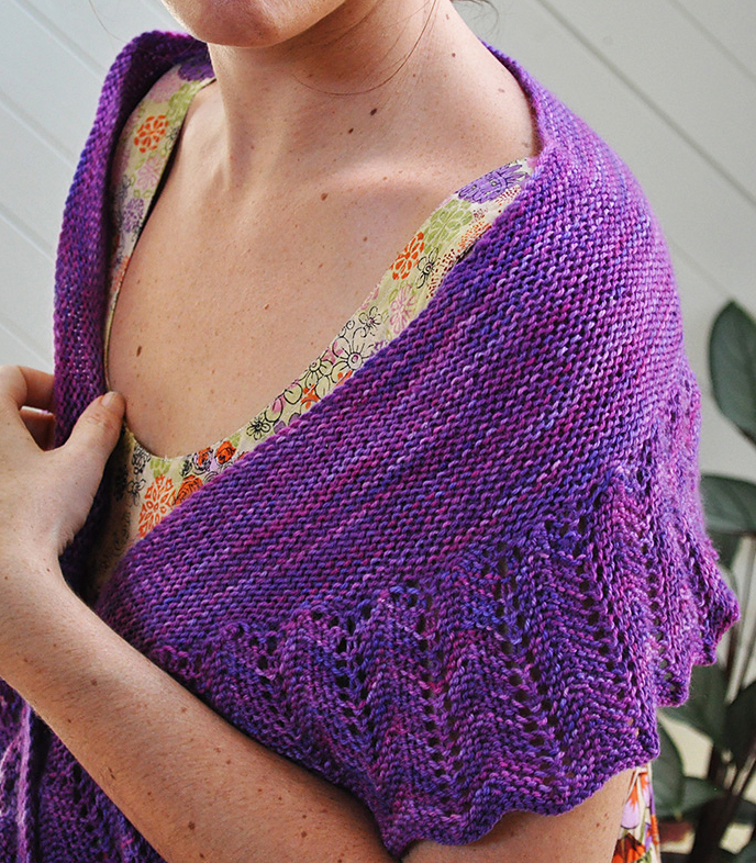 Free Knitting Pattern for One Skein Shearwater Shawl