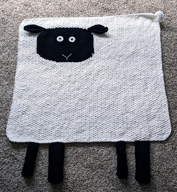 Free Knitting Pattern for Sheep Blanket