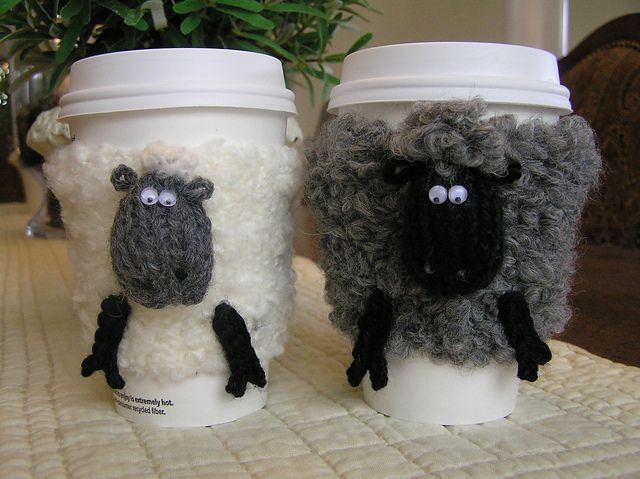 Free knitting pattern for Sheep Cosies and more sheep and lamb knitting patterns