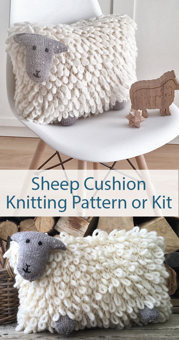 Knitting Pattern for Sheep Cushion