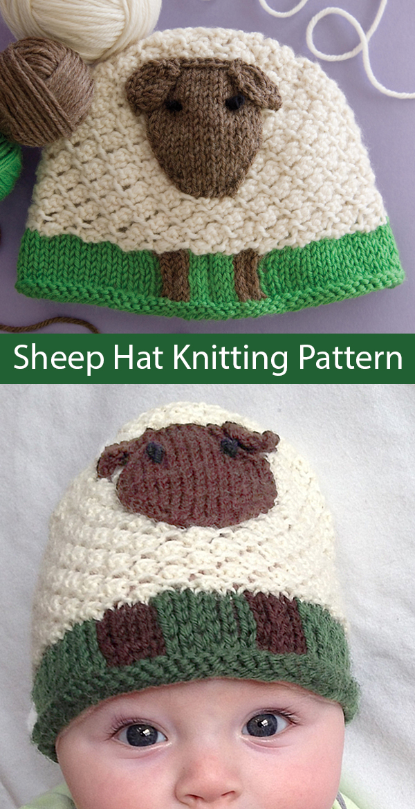 Knitting Pattern for Sheep Hat