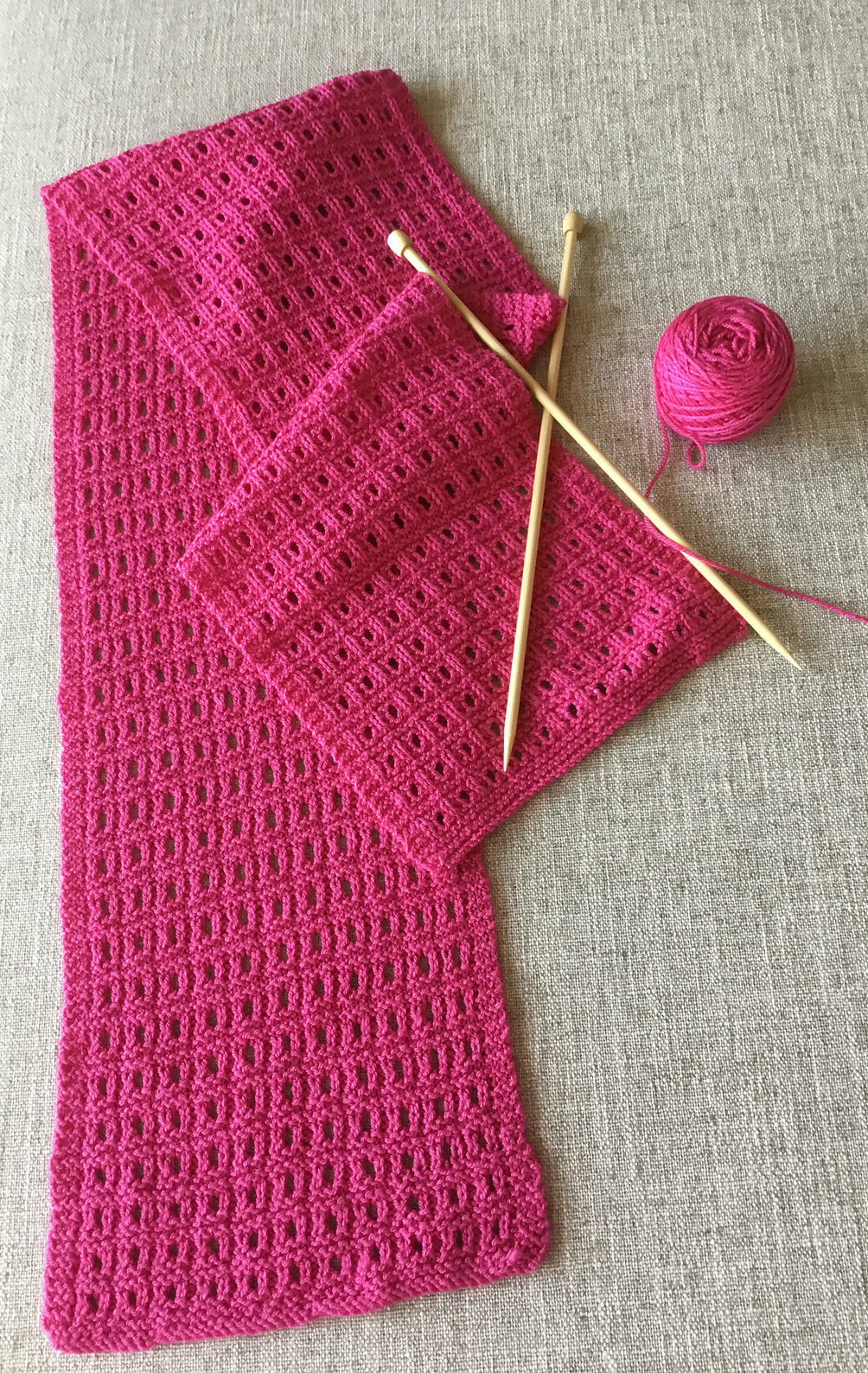Free Knitting Pattern for Reversible Sheesha Scarf
