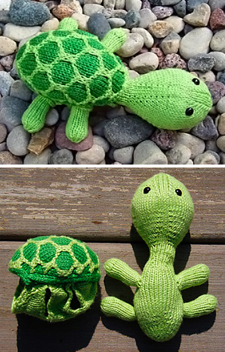 Free Knitting Pattern for Sheldon the Turtle Toy