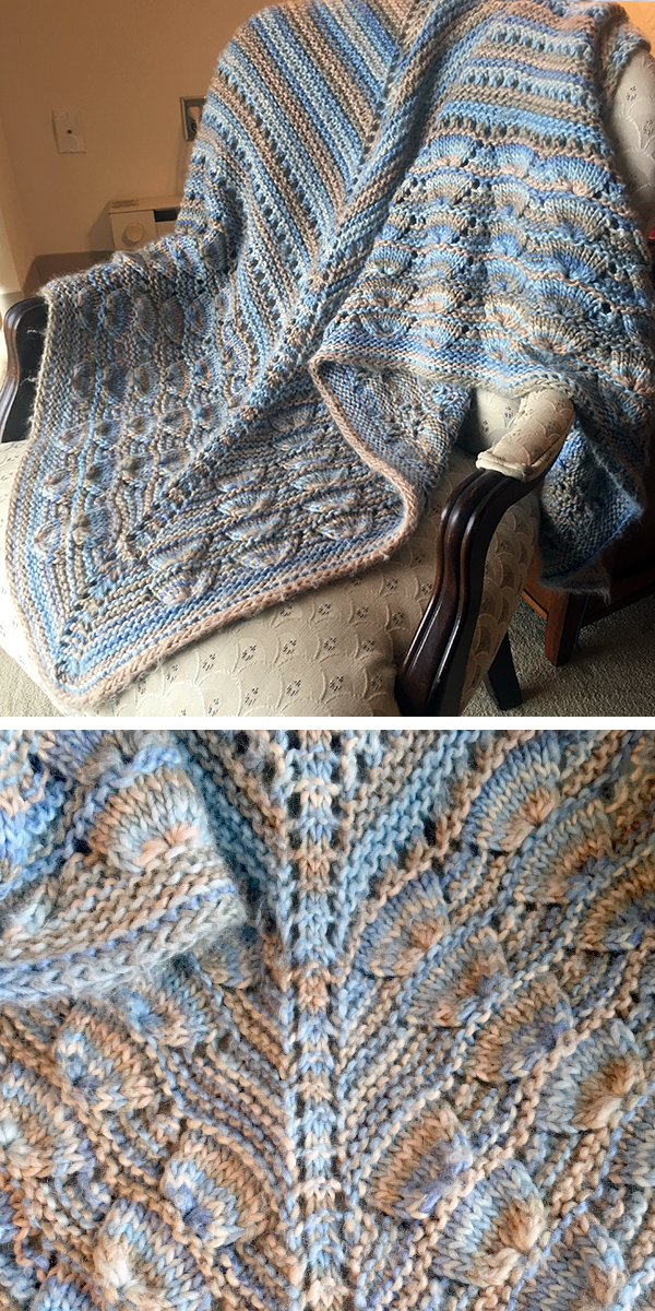 Shell Stitch Shawl Free Knitting Pattern