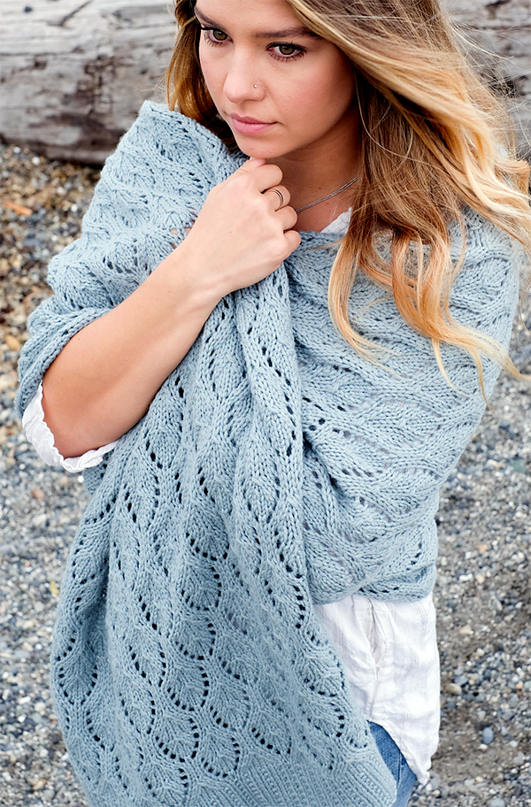 Free Knitting Pattern for Shells and Tide Wrap