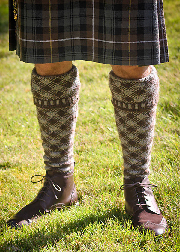 Free Knitting Pattern for Shepherd's Plaid Kilt Hose
