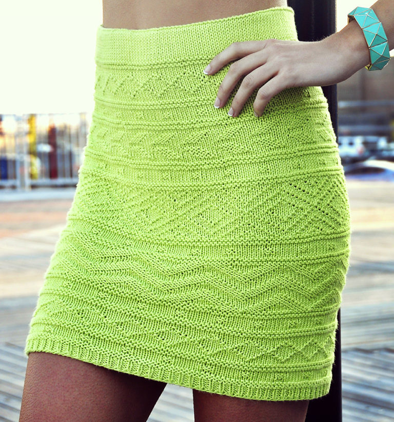 Knitting Pattern for She's Electric Skirt