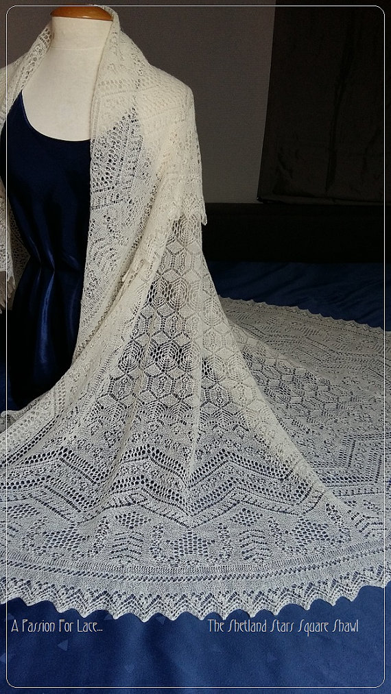 Claire's Wedding Shawl Knitting Pattern