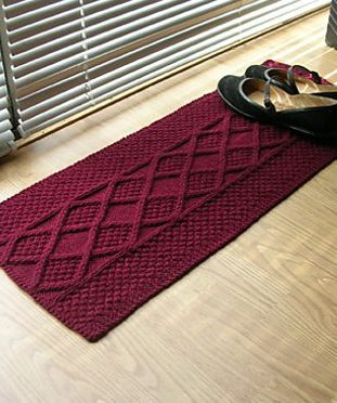Free Knitting Pattern for Cable Rug