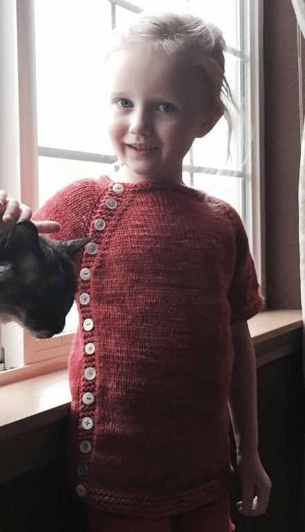 Free knitting pattern for Short Notice Cardigan for children