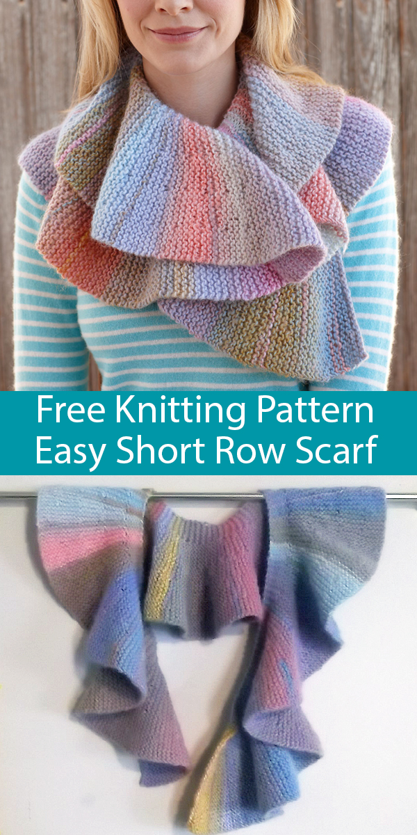 Free Knitting Pattern for Easy Short Row Scarf