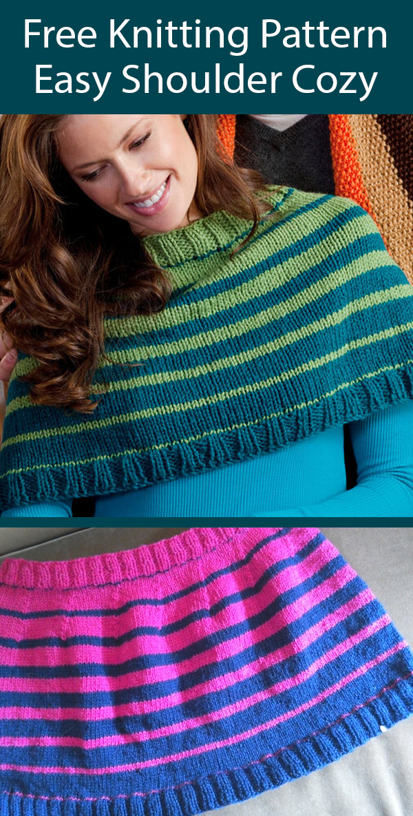 Free Knitting Pattern for Easy Shoulder Cozy Poncho