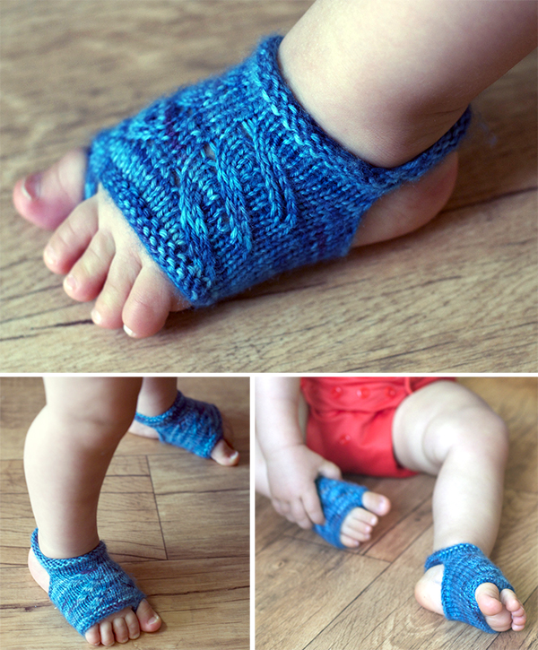 Free Knitting Pattern for Showsy Toes Baby Sandal Socks