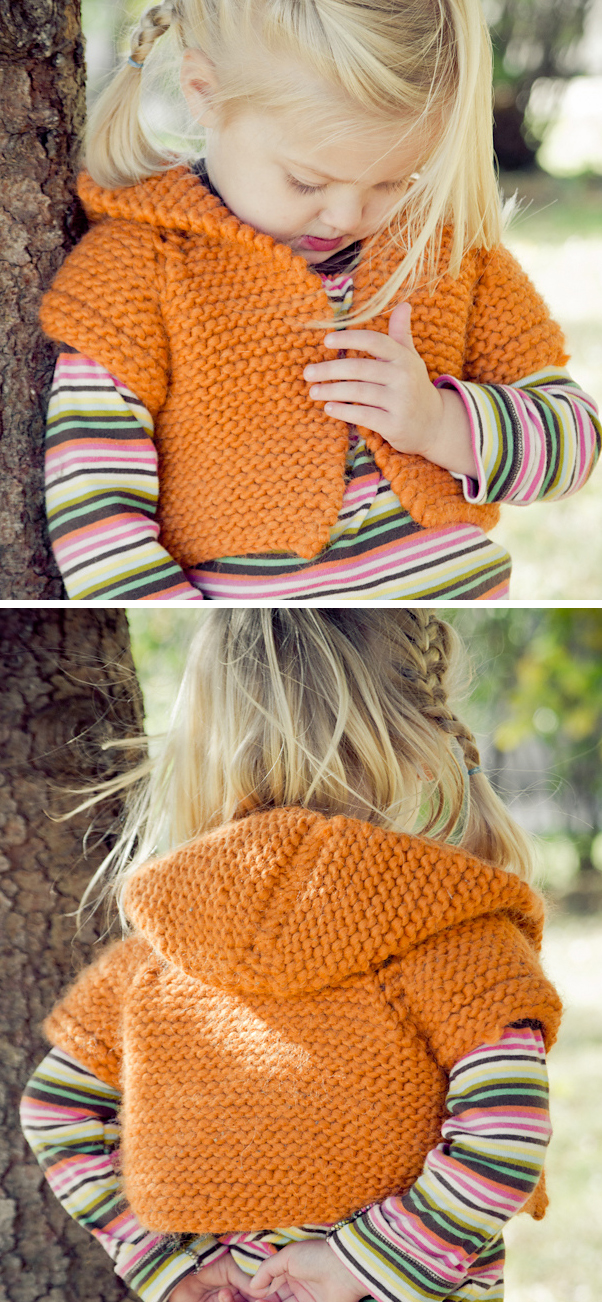Free Knitting Pattern for Shrug + Hoodie = Shroodie