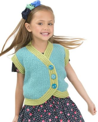 Free knitting pattern for Child's Side Buttoned Vest