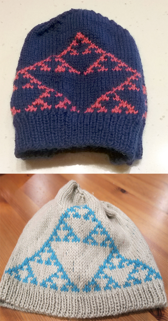 Free Knitting Pattern for Sierpinski Fractal Beanie