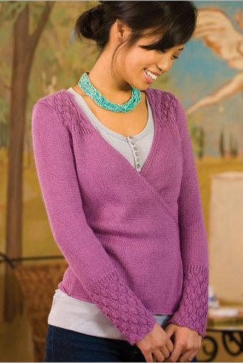 Knitting pattern for Silk Cocoon Cardigan wrap sweater
