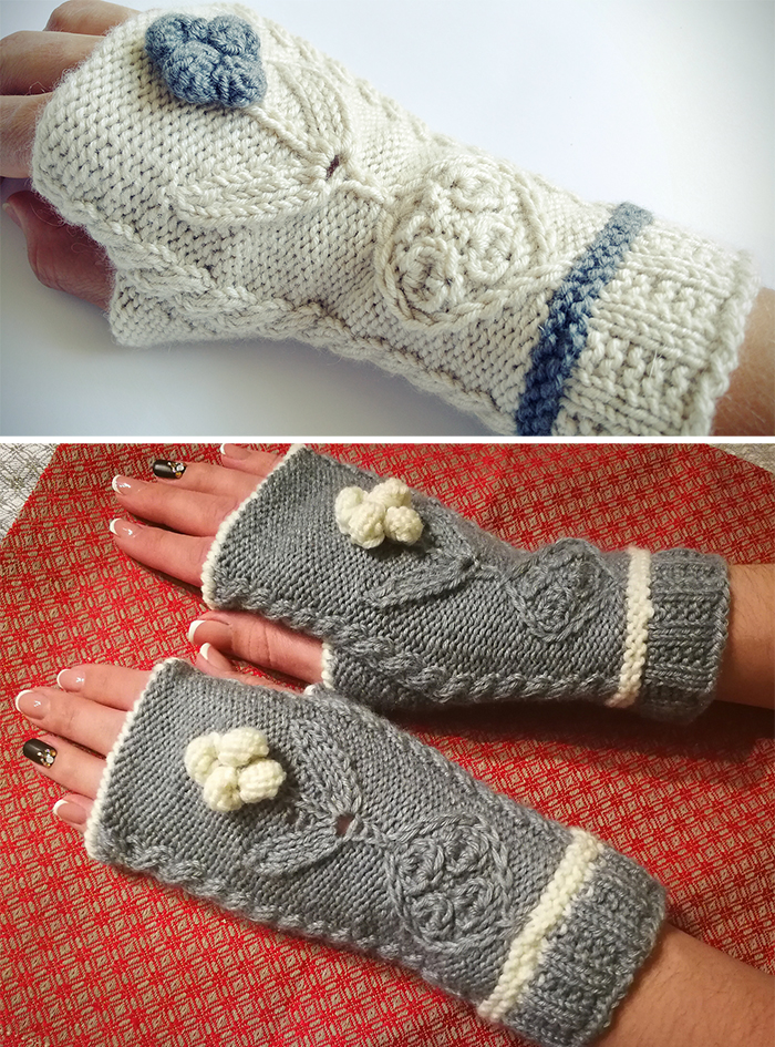 Fingerless Mitts And Gloves Knitting Patterns In The Loop Knitting