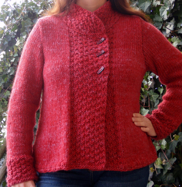 Free Knitting Pattern for Quick Silver Haze Jacket