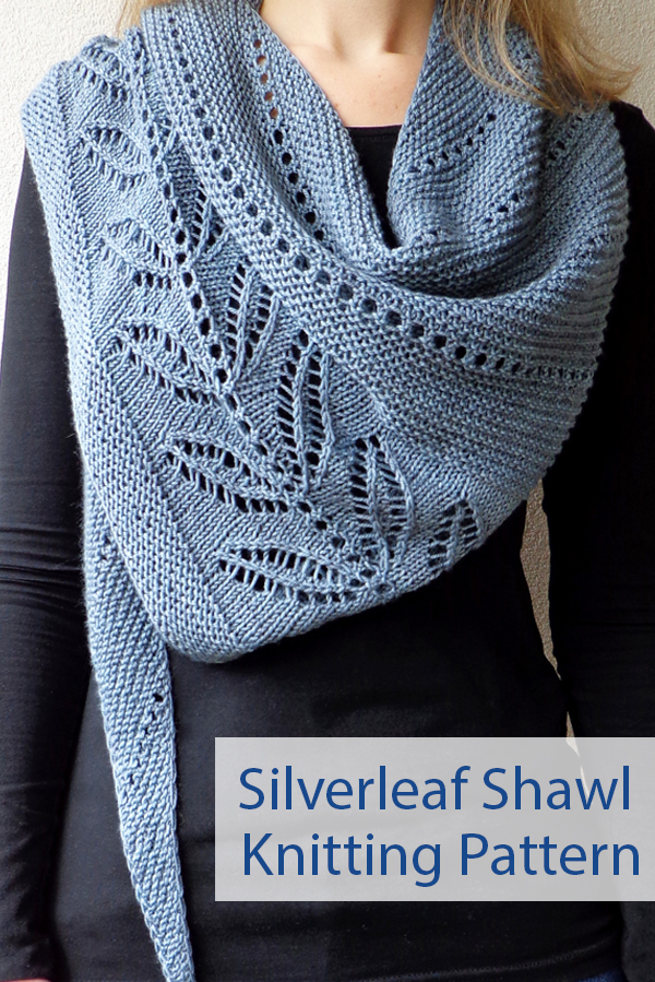 Knitting Pattern for Silverleaf Shawl