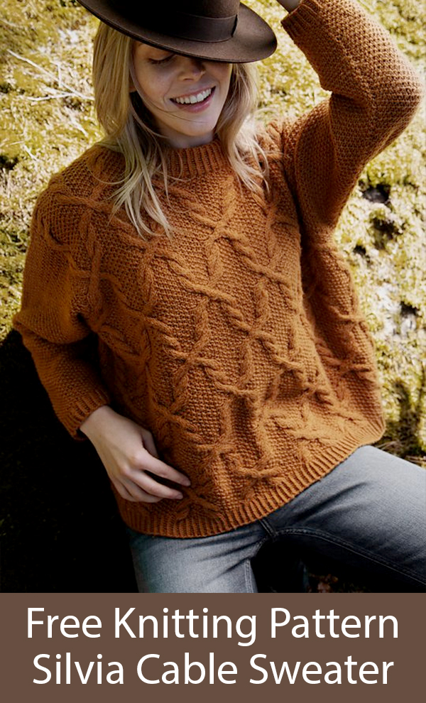 Free Knitting Pattern for Silvia Sweater